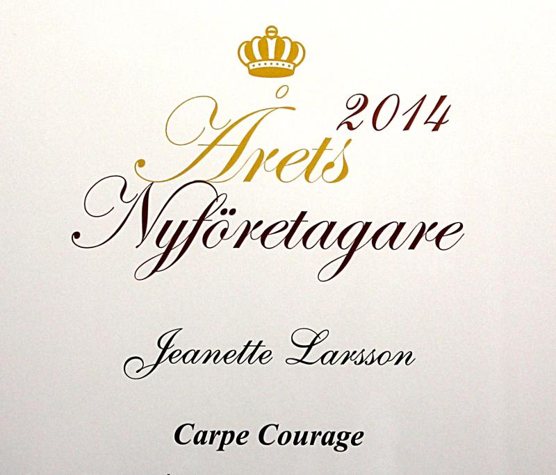 Årets Nyföretagare 2014 Jeanette Larsson Carpe Courage