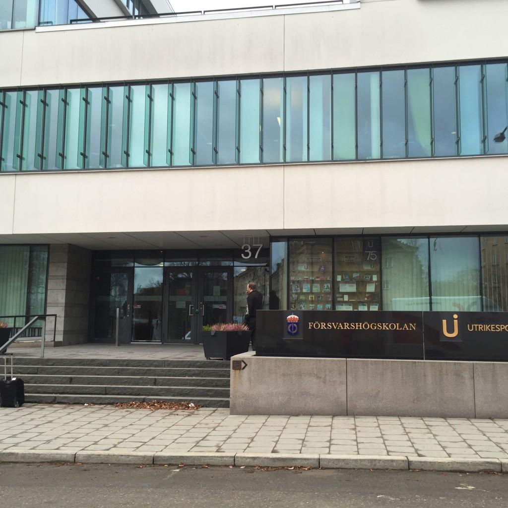 Försvarshögskolan, Stockholm.