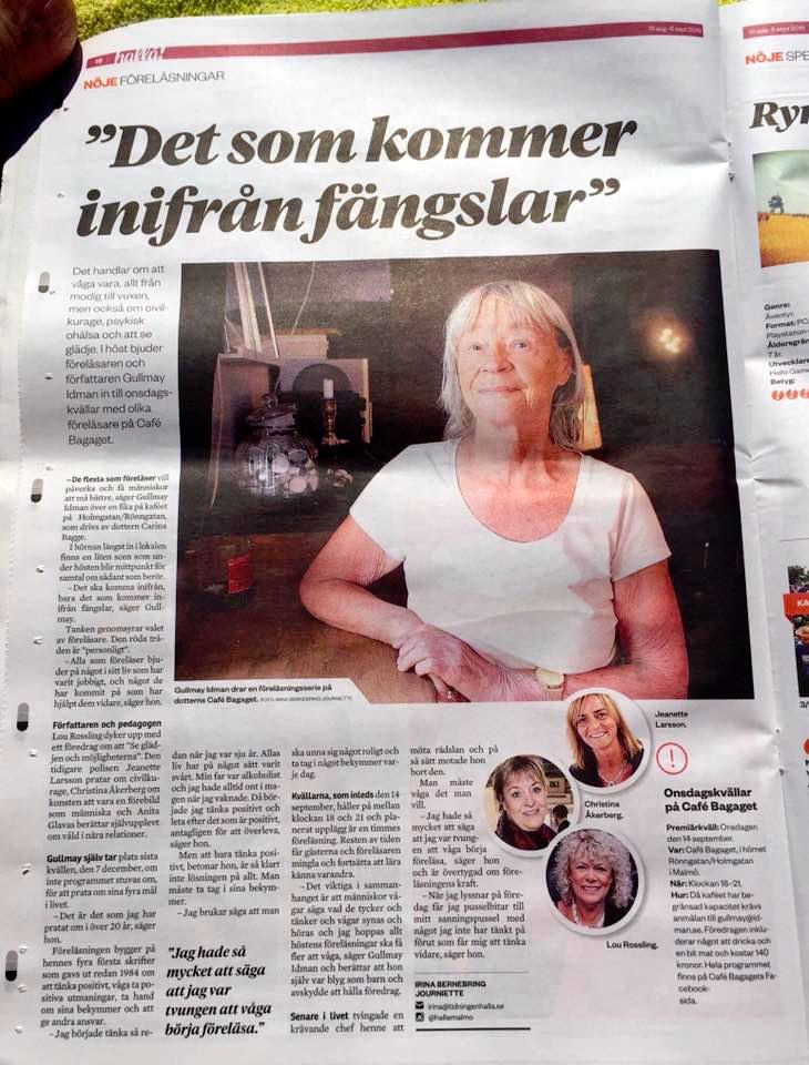 Onsdagskvällar på Bagaget. Intervju med initiativtagaren; Gullmay Idman.