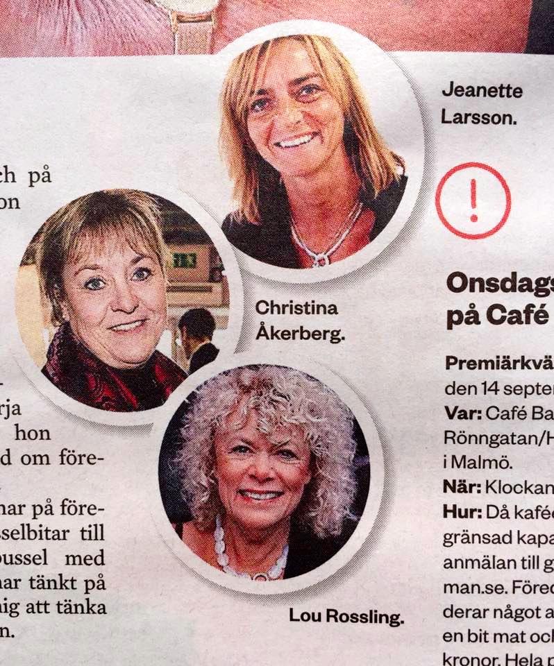 Onsdagskvällar på Bagaget. Intervju med initiativtagaren; Gullmay Idman. Med Jeanette Larsson, Christina Åkerberg och Lou Rossling.