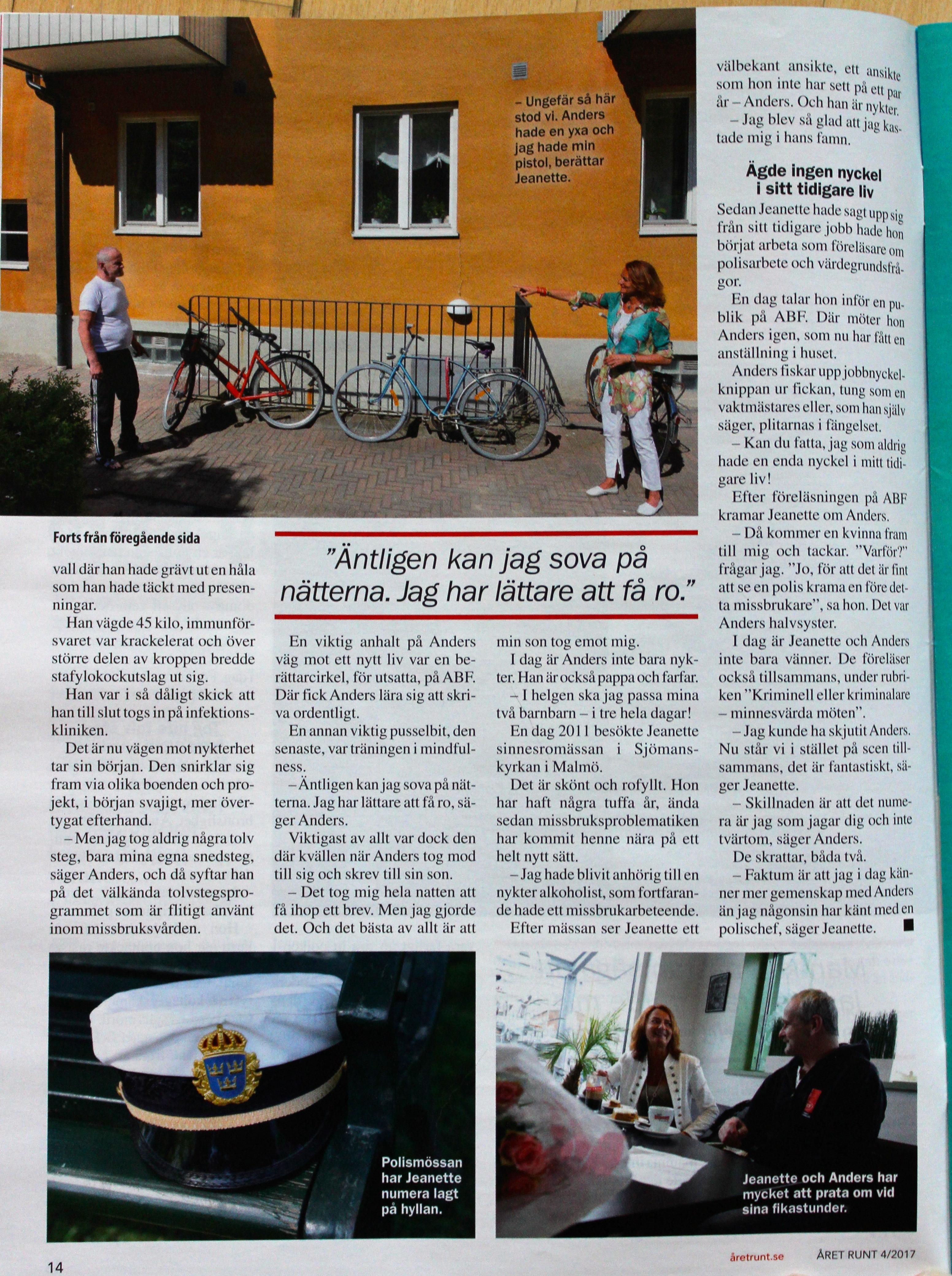 ÅRET RUNT, Nr 4, 19 januari 2017. Tredje sidan.