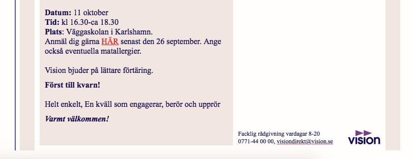 2017-10-11, VISION, Karlshamn