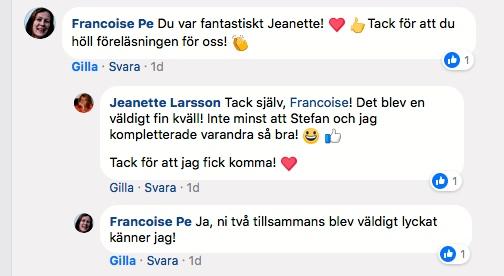 2018-01-22, Sveriges Ingenjörer, FB-inlägg från arrangören.