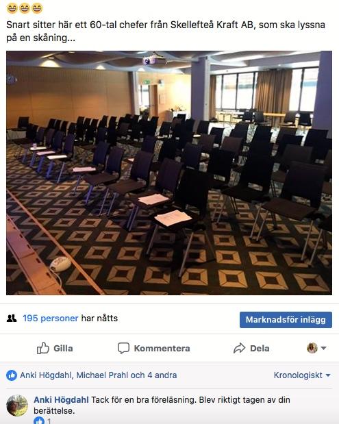 2018-02-23, FB-kommentar från åhörare.