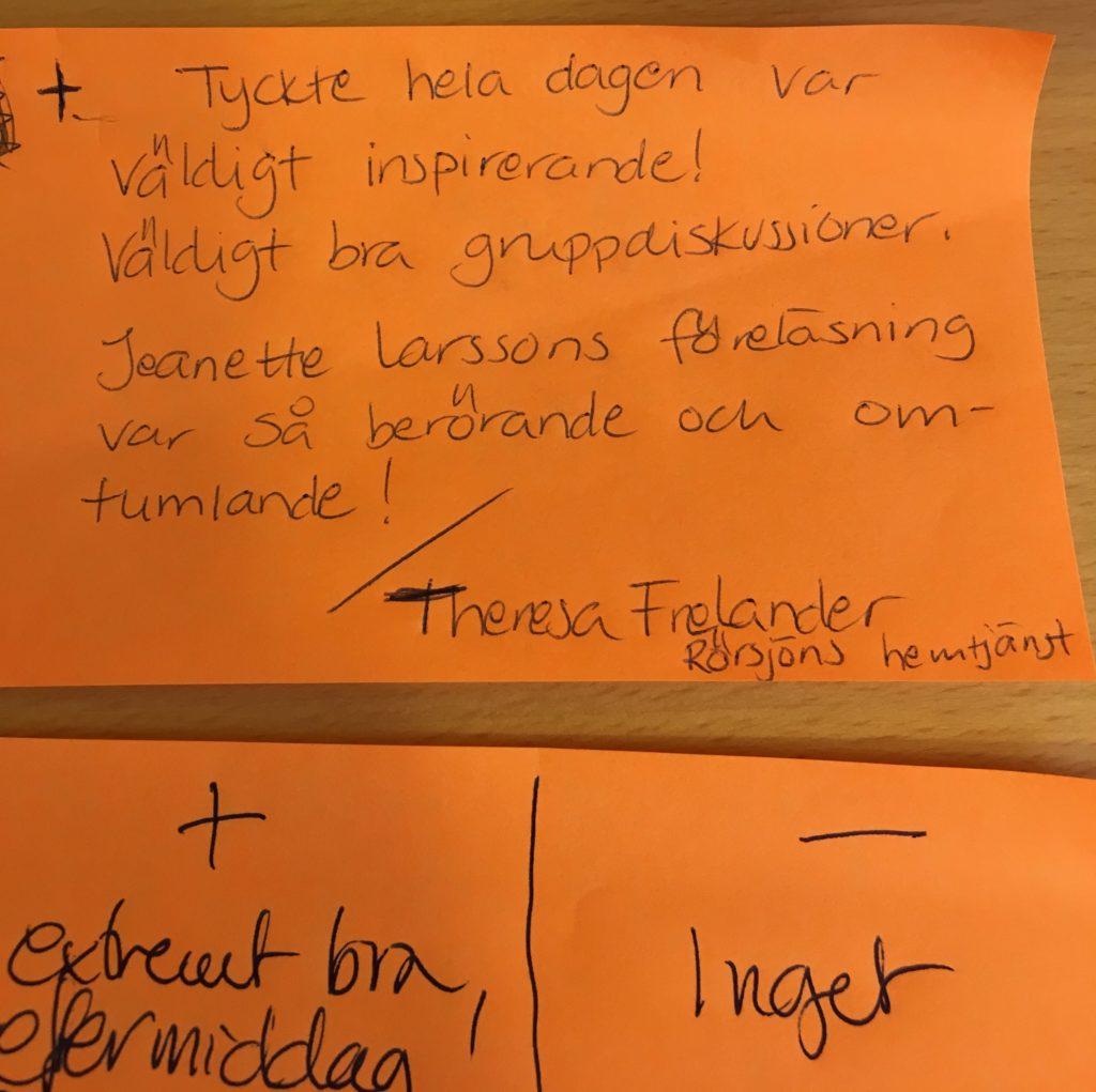 2018-02-08, Malmö Stad, Avdelningen för ordinärt boende i Malmö. Texter från utvärderingen.
