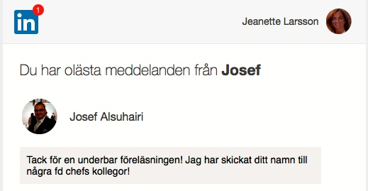 2018-02-08, Malmö Stad, Avdelningen för ordinärt boende i Malmö. Linked-In-kommentar från en åhörare.