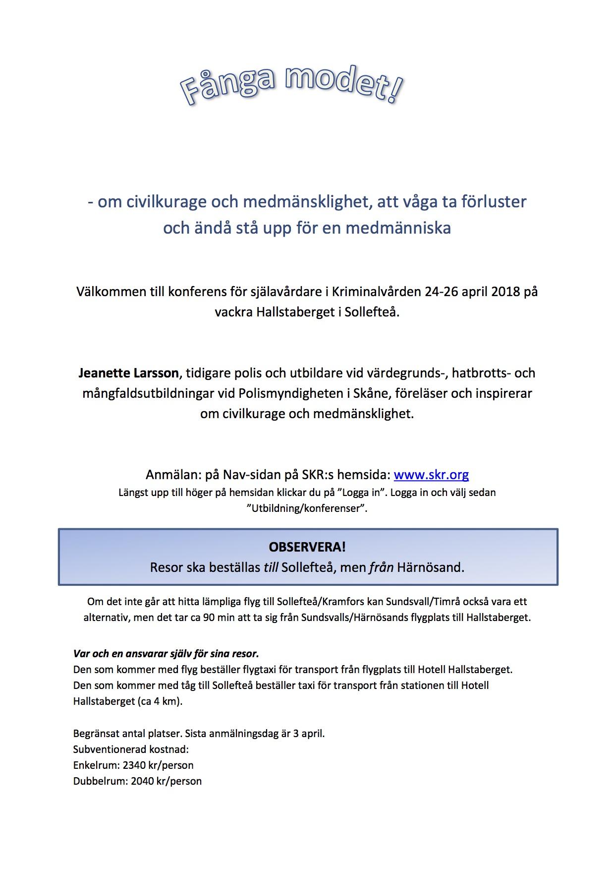 2018-04-24 -- 25, SKR, SiKs Rikskonferens, Hallstaberget i Sollefteå