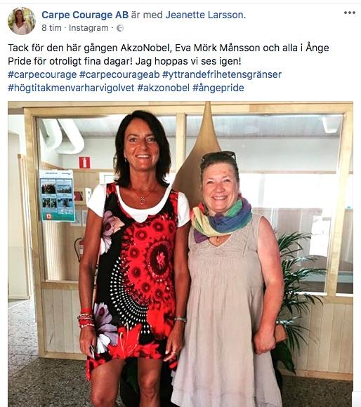 2018-05-25, AkzoNobel i Alby, Jeanette Larsson och Eva Mörk Månsson