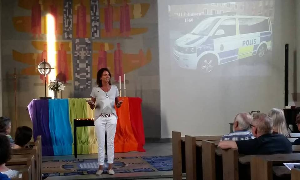 2018-05-24, Ånge Pride, FB-inlägg från Regnbågsmässsan, Ånge Kyrka. Jeanette Larsson